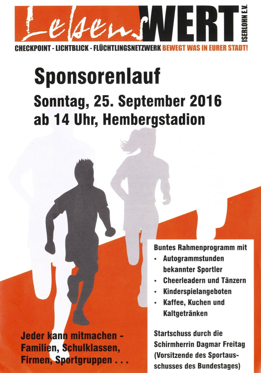 Sponsorenlauf 2016 Flyer