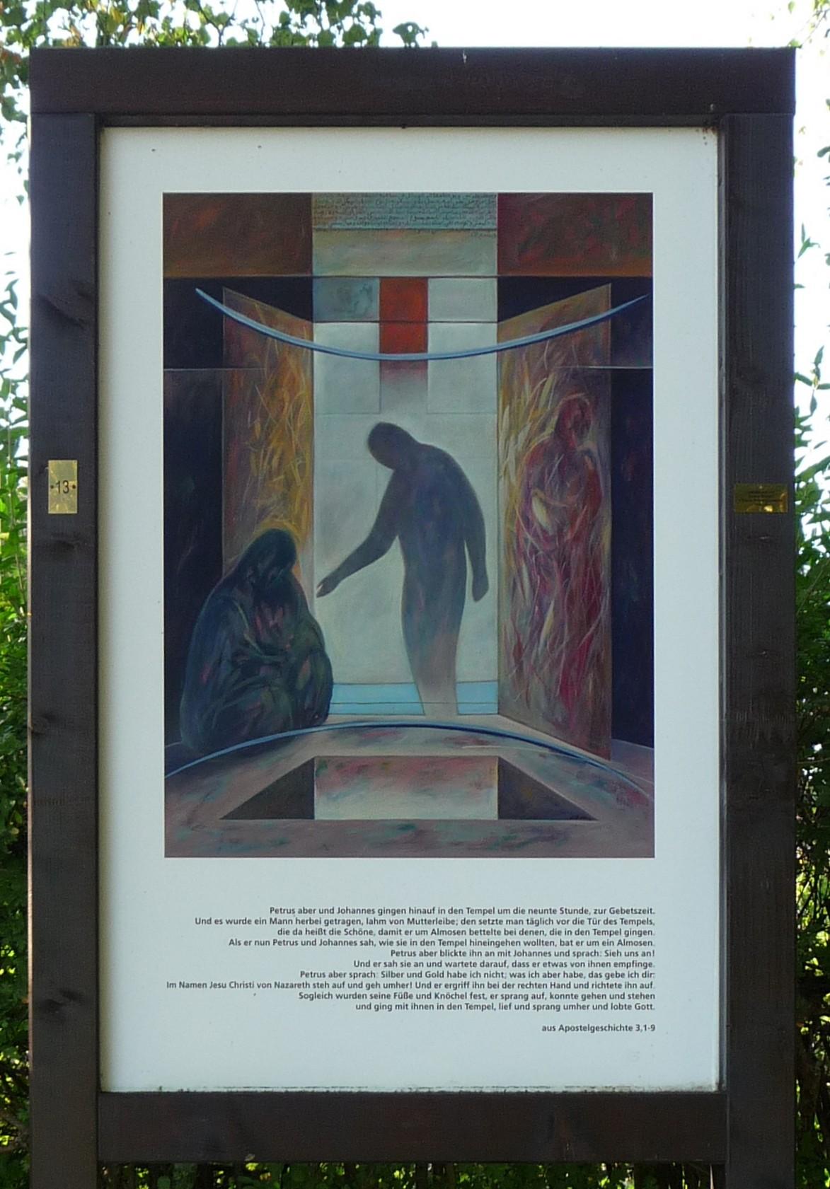 Auferstehungsweg an Kirche