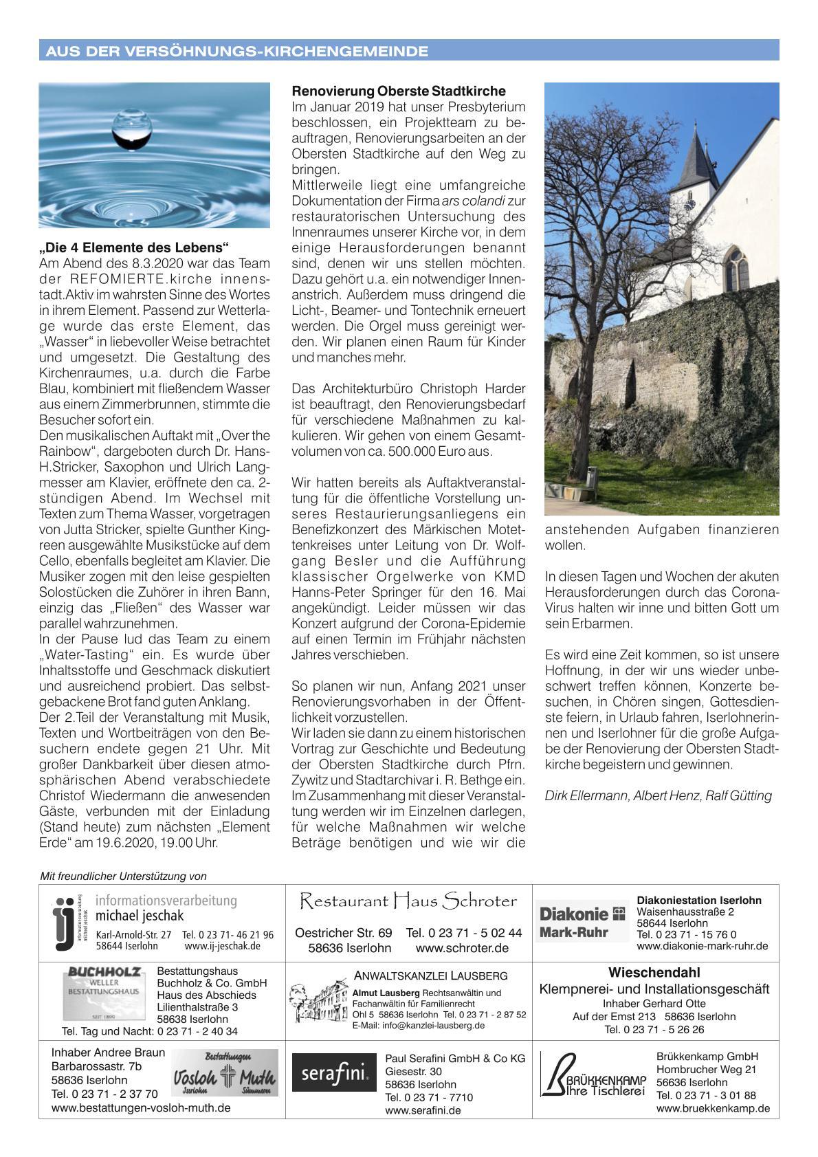 2020 04 Newsletter April 2