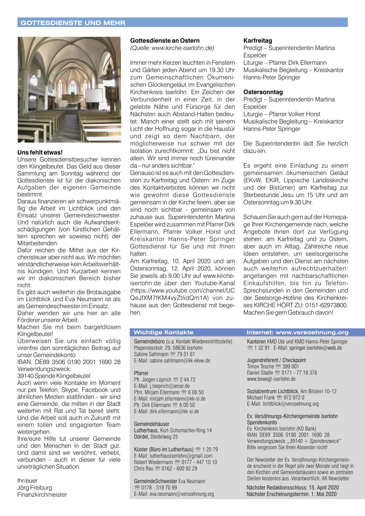 2020 04 Newsletter April 4